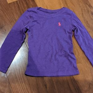 Purple Ralph Lauren long sleeved tee